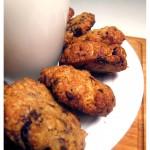 Ciasteczka owsiane z suszoną żurawiną i czekoladą