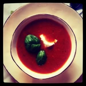 Pomidorowa z pieczonych pomidorów