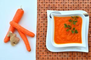 krem z pieczonych marchewek
