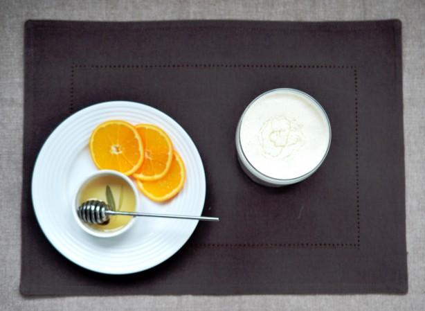 Koktajl pomarańczowy na serku homogenizowanym