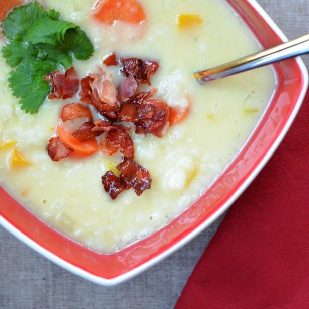 Zupa ryżowo-czosnkowa