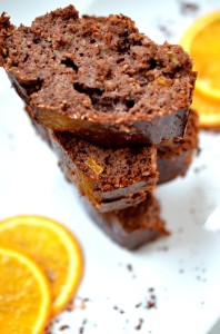 pomarańczowo-czekoladowe ciasto proteinowe