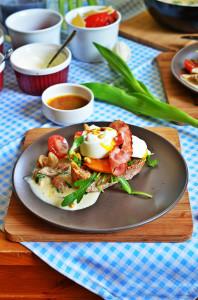 Kanapka z jajkiem i batatem